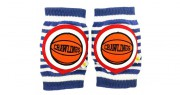 Basketball Navy Striped Kneepads