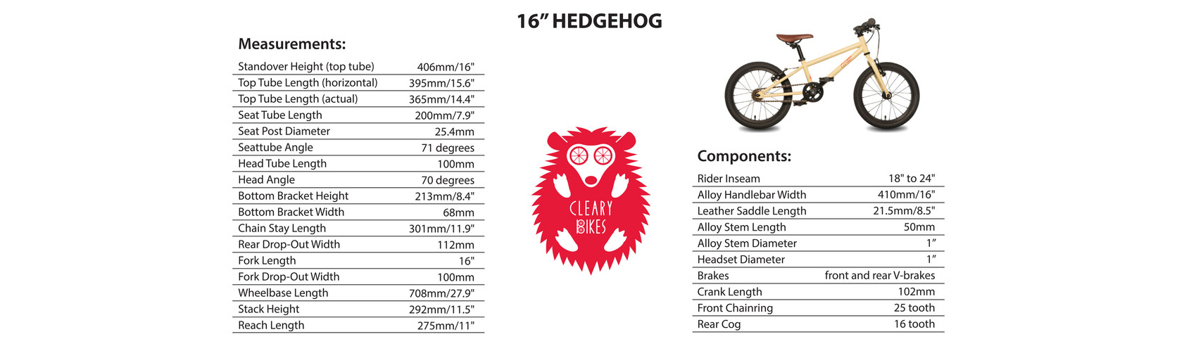 Cleary Hedgehog 16""